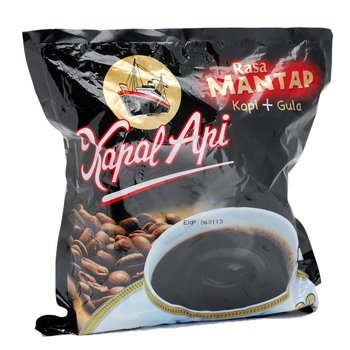 Kapal Api Kopi Rasa Mantap 750 gram Instant Coffee and sugar 30-ct @ 25 gr
