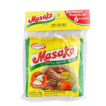 Masako Pelezat Serbaguna Rasa Sapi 80 gram Beef flavour All Purpose Seasoning 10-ct @ 8 gr