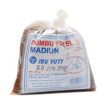 Ibu Yuti Bumbu Pecel Madiun 200 gram - Indonesian Peanut  salad dressing
