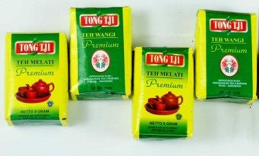 4 pcs of TongTji teh melati Premium 10 gram Tong Tji Loose Jasmine tea