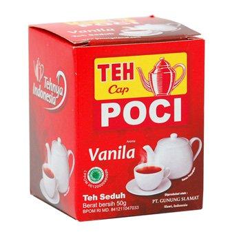 Teh Seduh rasa vanila Cap Poci loose brewed Tea Vanilla flavor 50 grams - free shipping
