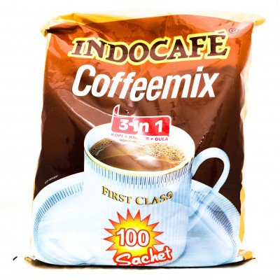 Indocafe Coffeemix 3 in 1 instant coffee 2000 gram coffee-sugar-creamer 100-ct 20 gr