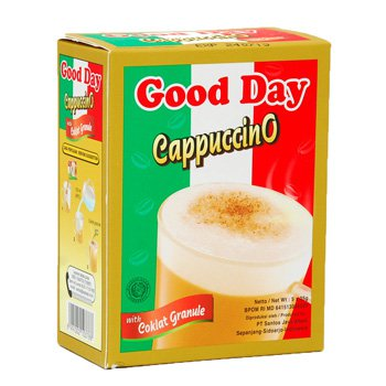 Good Day Cappuccino with Chocolate Granule 125 gram - instant coffee 5-ct @ 25 gr