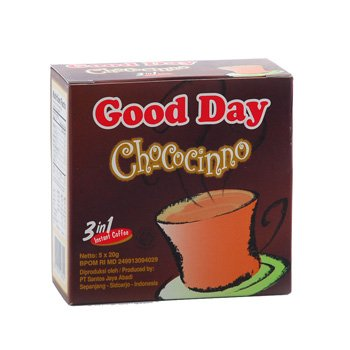 Good Day Chococinno 3 in 1 chocolate flavour  100 gram instant coffee 5-ct @ 20 gr