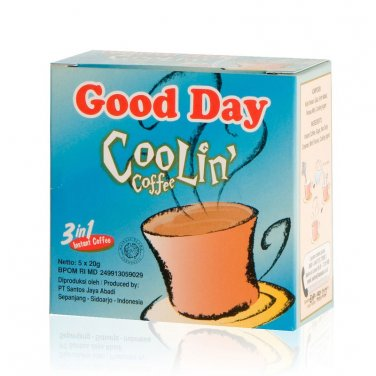 Good Day Coolin Coffee 100 gram - instant mint flavour coffee 5-ct @ 20 g