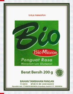 Bio Miwon Mononatrium Glutamate (MSG) plus Robotida 200 gram