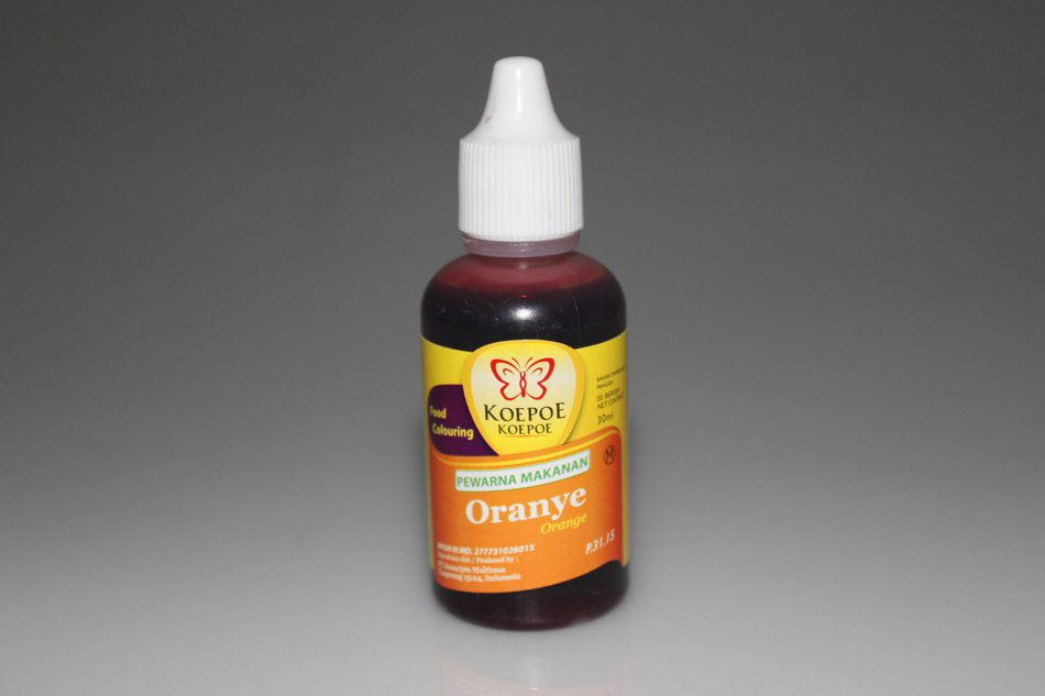 Koepoe-Koepoe Pewarna Makanan Oranye 30 ml Orange Food Coloring