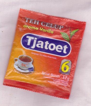 Tjatoet Teh celup aroma vanila 12 gram  black tea with vanilla flavor tea bags 6-ct @ 2gr
