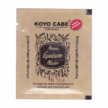 Koyo Cabe Chilli Brand Porous Capsicum Plaster, Standard Size (pack of 9)