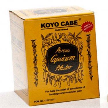 Koyo Cabe Chilli Brand Porous Capsicum Plaster, Standard Size (1 Box)