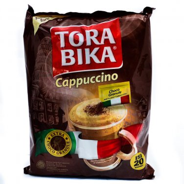 Torabika Cappucino with Extra Choco Granule 500 gram instant coffee 20-ct @ 25 gr