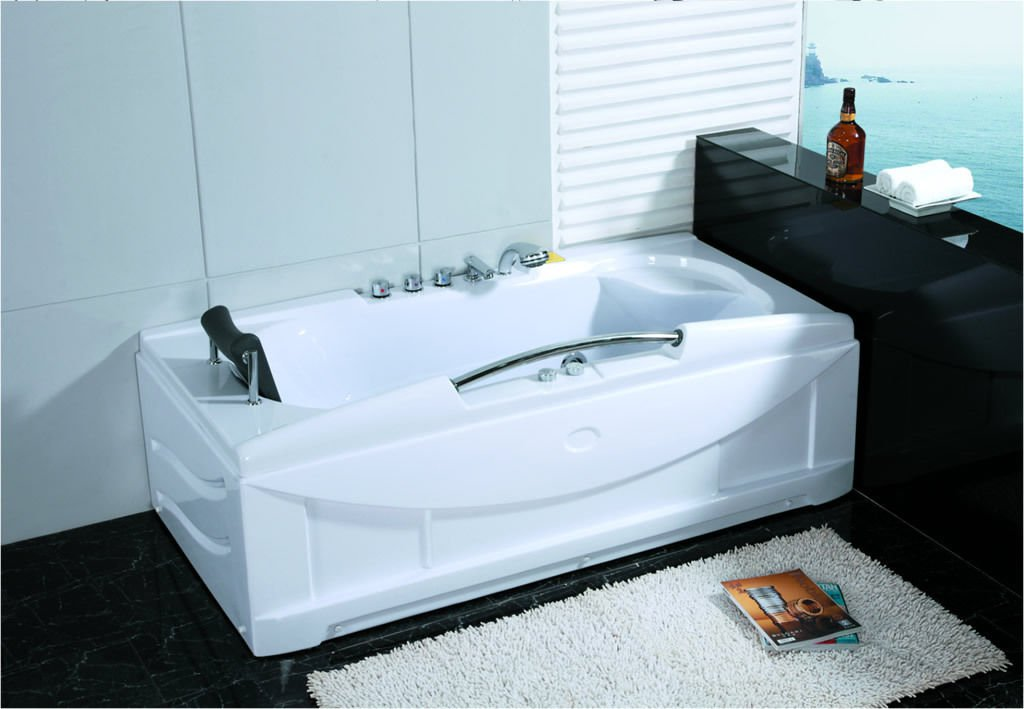 1 Person Jetted Whirlpool Hydrotherapy Massage Bathtub Indoor Hot Tub HEAT
