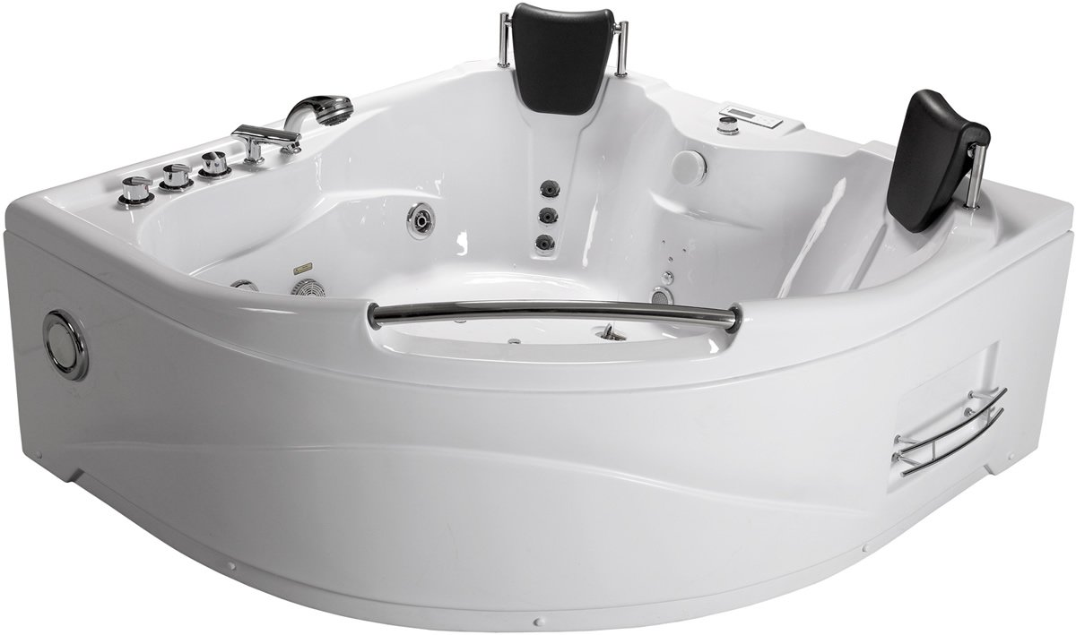 Deluxe 2 Person Jetted Whirlpool Massage Hydrotherapy Bathtub Tub Indoor