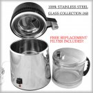 Stainless Steel Water Distiller w/ Glass Collection Jar FREE 2nd Filter