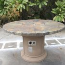 Outdoor Natural Slate Fire Pit Outdoor Dining Table Propane Firepit