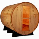 OUTDOOR 6' Foot Canadian PINE WOOD Barrel Sauna WET / DRY SPA 4 Person Size
