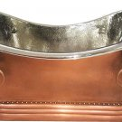 "72"" 100% Copper Soaking Bathtub Tub w/ Nickel Interior Hammered Exterior"