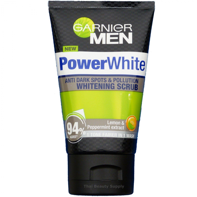 Garnier Men Powerwhite Anti Dark Spots & Pollution Whitening Scrub 100ml 3.4oz