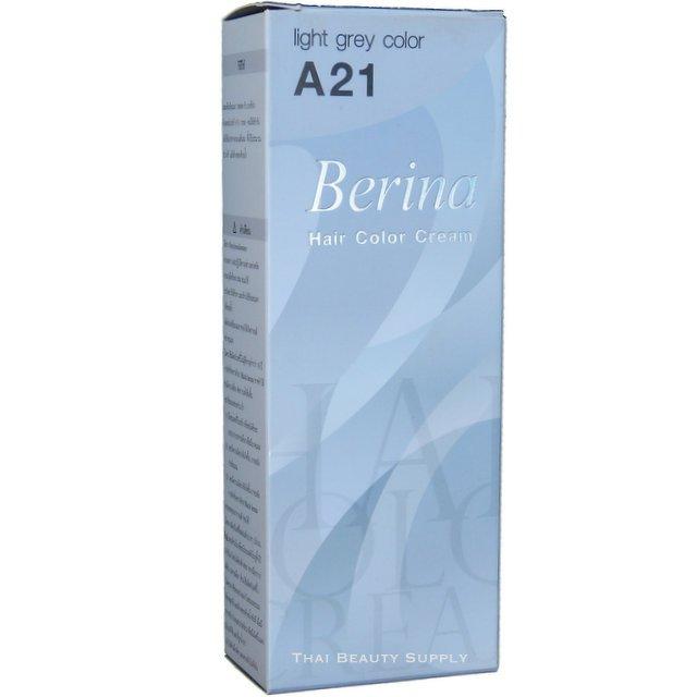 Berina Permanent Hair Color Cream A21 Light Grey Gray