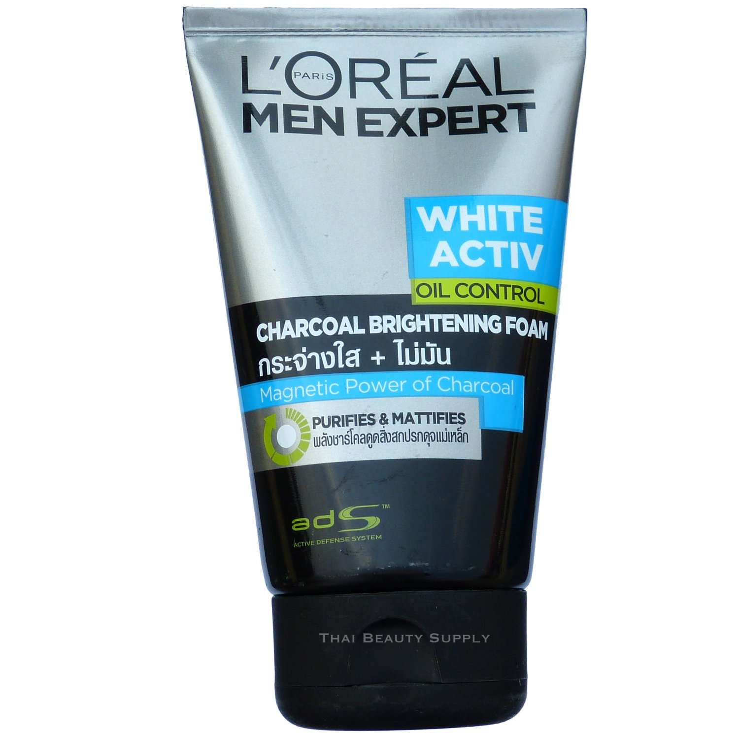 L'Oreal Men Expert White Activ Oil Control Brightening Charcoal Foam 100ml