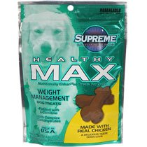 Supreme Healthy Max Weight Management Dog Treats, 4-oz. Bags