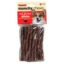 Sergeant's Beef-Flavored Munchy Chews, 20-ct. Packs