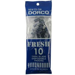 DORCO. 10CT RAZOR #BLUE PACKAGE