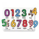 Melissa & Doug See-Inside Numbers Peg NEW