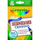 Crayola 8ct Dry Erase Crayons Large Size NEW