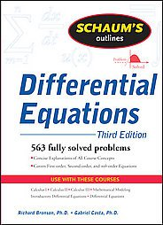 Schaum's Outline of Differential Equations by Richard Bronson and Gabriel B. ...
