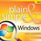 Windows 7 Plain & Simple by Jerry Joyce and Marianne Moon (2009, Paperback)
