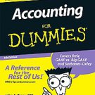 Accounting For Dummies by John A. Tracy (2008, Paperback)