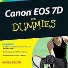 Canon EOS 7D for Dummies by Doug R. Sahlin (2010, Paperback)