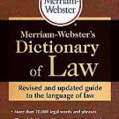 Merriam-Webster's Dictionary of Law by Merriam-Webster (2011, Paperback)