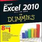 Excel 2010 All-in-one for Dummies by Greg Harvey (2010, Paperback)