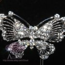 BRIDAL WEDDING GOLD SILVER CRAFT BUTTERFLY BOW RHINESTONE CRYSTAL BROOCH PIN