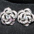 LOT OF 2 WEDDING DECORATION DRESS CRAFT RHINESTONE CRYSTAL FLOWER ROSE BUTTONS