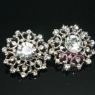 LOT Of 4 VINTAGE STYLE WEDDING DECORATION RHINESTONES SUIT SHANK BUTTONS