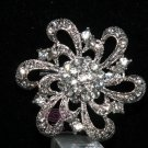 WEDDING DRESS RHINESTONE CRYSTAL BRIDAL CAKE FLOWER BOUQUET BROOCH PIN