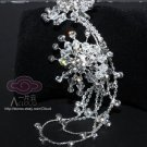 STAR BRIDAL WEDDING RHINESTONE CRYSTAL SWEATER GUARD HAIR PIECES CLIP