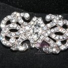 WEDDING EMBELLISHMENT ENGAGEMENT RHINESTONE CRYSTAL SHOES CLIP CRAFT HOOK BUTTON