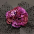 BRIDAL WEDDING FLOWER LACE FEATHER HAIR FASCINATOR HAT HEADPIECE HANDMADE CLIP
