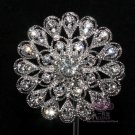 CRYSTAL RHINESTONE FLOWER FLORAL BOUQUET BRIDAL DRESS WEDDING CAKE BROOCH PIN