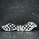 RHINESTONE CRYSTAL WEDDING BRIDAL SHRUG SASH CLASP BUTTON BUCKLE HOOK CLOSURE