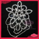 BRIDAL WEDDING DANGLE RHINESTONE CRYSTAL TIARA FLORAL STAR DANGLE HAIR COMB