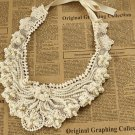 WEDDING CHIFFON LACE RHINESTONE CRYSTAL FAUX PEARL CHOKER NECK COLLAR NECKLACE
