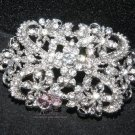 LOT OF 2 CLEAR RHINESTONE CRYSTALS VINTAGE STYLE SHOES CRAFT BUCKLE HOOKS BUTTON