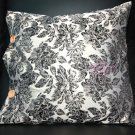 2 x BRONZE SILVER ROSE EMBROIDERY SILK PILLOW CASE CUSHION SOFA COVER