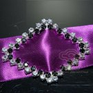 SILVER RHINESTONE CRYSTAL WEDDING SLIDER GIFT INVITATION SASH BELT BUCKLE