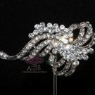 BRIDAL WEDDING CAKE RHINESTONE CRYSTAL DRESS BUCKLE BOUQUET BROOCH PIN